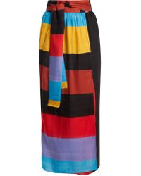 Mara Hoffman - Cora Tie Waist Striped Wrap Skirt - Lyst