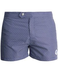 Robinson Les Bains - Ucla Geometric Print Swim Shorts - Lyst