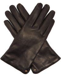 Gucci - Bee Motif Leather Gloves - Lyst