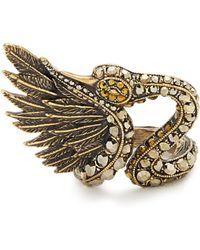Lanvin | Crystal-embellished Swan Ring | Lyst