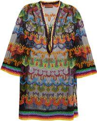 Missoni - Embroidered Multicoloured Kaftan - Lyst