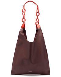 Burberry - Medium Leather Shopper Tote - Lyst