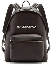Balenciaga - Everyday Logo-print Leather Backpack - Lyst