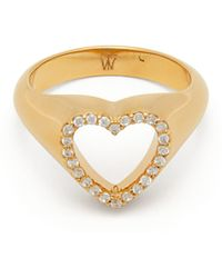 Theodora Warre - Heart Gold Plated Sterling Silver Pinky Ring - Lyst