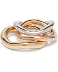 Charlotte Chesnais - Wave Vermeil & Silver Stacking Rings - Lyst