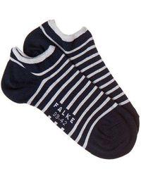 Falke - - Striped Trainer Socks - Womens - Navy Multi - Lyst