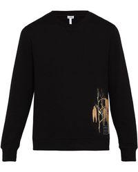 Loewe - X Charles Rennie Mackintosh Cotton Sweatshirt - Lyst
