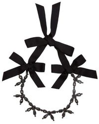 Simone Rocha - Crystal And Bow Necklace - Lyst