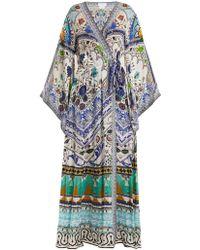 Camilla - Long-sleeve Kimono Maxi-dress - Lyst