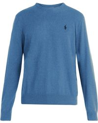 Polo Ralph Lauren - Logo-embroidered Wool Sweater - Lyst