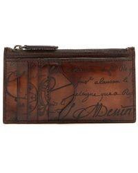 Berluti - Koa Leather Cardholder - Lyst