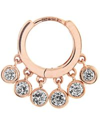 Jacquie Aiche - Diamond & Rose Gold Earring - Lyst
