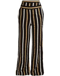 Ace & Jig - Dancin Striped Textured-cotton Wide-leg Trousers - Lyst