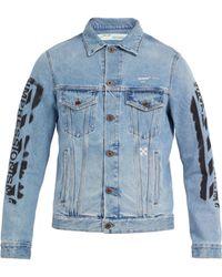 Off-White c/o Virgil Abloh - Spray Paint Denim Jacket - Lyst