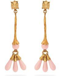 Valentino - Long Bead-drop Earrings - Lyst