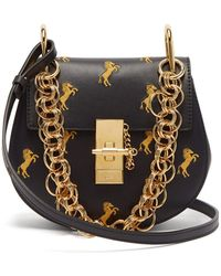 Chloé - Drew Bijou Mini Leather Cross-body Bag - Lyst