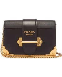 a4343370bcffc8 Prada - Cahier Shoulder Bag - Lyst