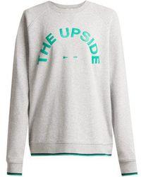 The Upside - Sid Logo-print Cotton-jersey Sweatshirt - Lyst