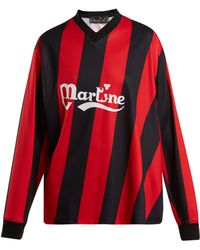 Martine Rose - Long Sleeved Twisted Football Shirt - Lyst