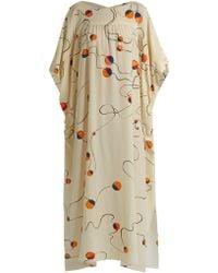 Mafalda Von Hessen - Abstract-print Silk Smock Dress - Lyst