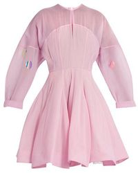 Natasha Zinko - Structured Silk-chiffon Dress - Lyst