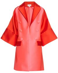 Antonio Berardi - Bi-colour Satin Evening Coat - Lyst