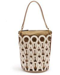 Marni - Interlocked Leather Bucket Bag - Lyst