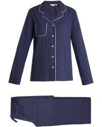 Derek Rose - Balmoral 3 Brushed-cotton Pyjamas - Lyst