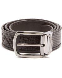 Ermenegildo Zegna - Reversible Woven-leather Belt - Lyst