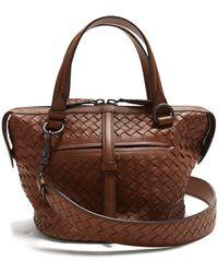 Bottega Veneta - Tambura Small Intrecciato Leather Bag - Lyst