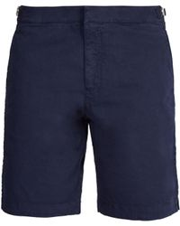 Orlebar Brown | Dane Mid-length Cotton-twill Shorts | Lyst