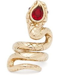 Etro - Crystal Embellished Snake Ring - Lyst
