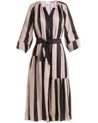 Apiece Apart - Stella Silk-blend Maxi Shirt Dress - Lyst