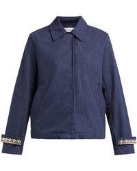Wales Bonner - Crystal Embellished Blouson Denim Jacket - Lyst