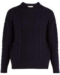 AMI - Oversized Wool Sweater - Lyst
