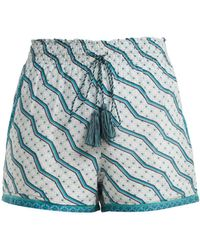Talitha - Printed Silk And Cotton-blend Shorts - Lyst
