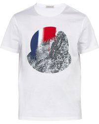 Moncler - Photographic-print Cotton T-shirt - Lyst