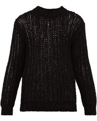 CALVIN KLEIN 205W39NYC Loose Knit Cotton Sweater - Black