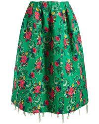 Marni - Floral-brocade Gathered Midi Skirt - Lyst