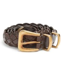 Brunello Cucinelli   Braided Leather Belt   Lyst