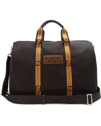 Fendi | Logo-embroidered Nylon Holdall | Lyst