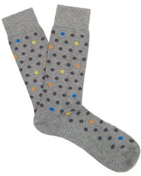 Pantherella - Saona Polka-dot Cotton-blend Socks - Lyst