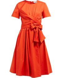 Diane von Furstenberg - Robe en popeline de coton stretch à ceinture Quinn - Lyst