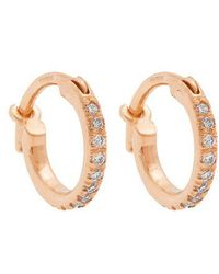 Ileana Makri - Diamond & Rose-gold Earrings - Lyst