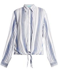 Melissa Odabash - Inny Striped Beach Shirt - Lyst