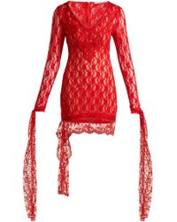 Christopher Kane - Draped Lace Dress - Lyst