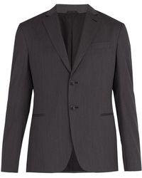 Giorgio Armani - Single-breasted Wool Jacket - Lyst