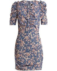 Isabel Marant - Brizia Floral-print Puff-sleeved Dress - Lyst
