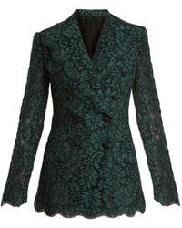 Dolce & Gabbana - Cordonetto Lace Double Breasted Blazer - Lyst