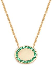 Jessica Biales - Candy Emerald & Yellow Gold Necklace - Lyst